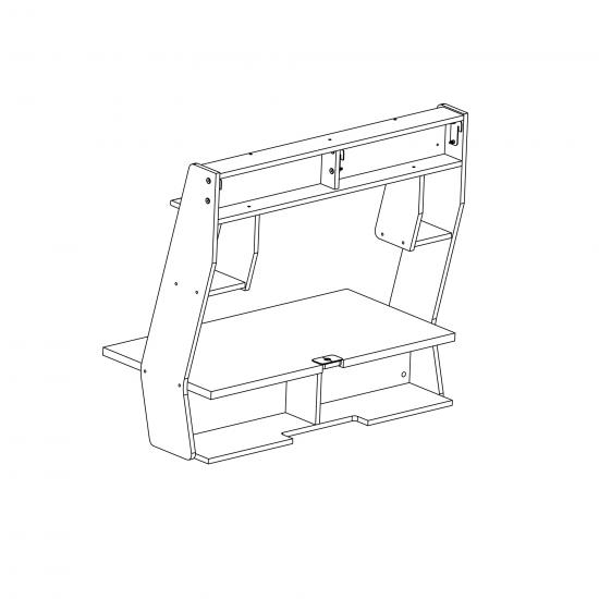 Zero Gravity White Floating Desk