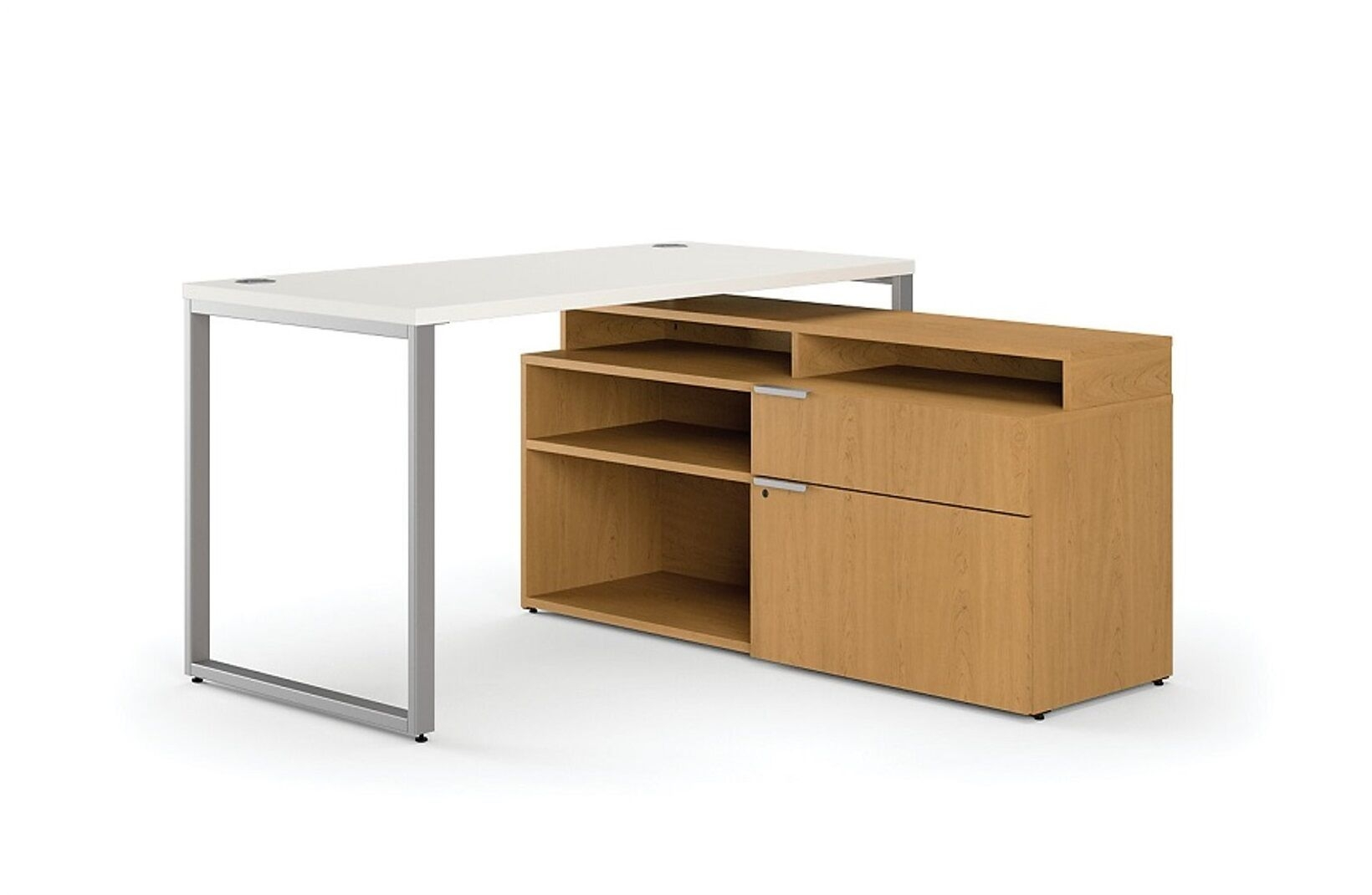 Lshaped Desk With Drawers