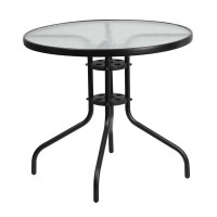 Monty 32 Inch Round Glass Table