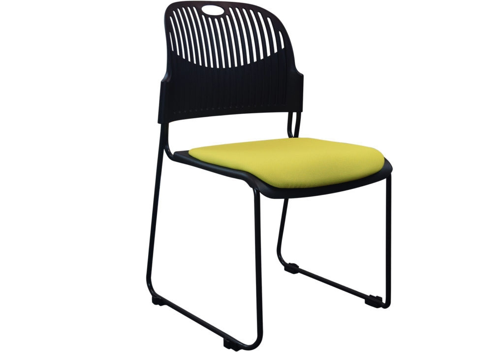 upholstered stacking chairs chair stool price brent 6 pack stackable cub ops 3133 yel spo 1
