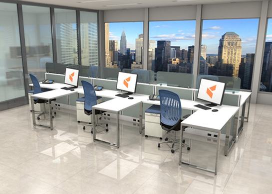 Office Workstations Optima by cubicles.com