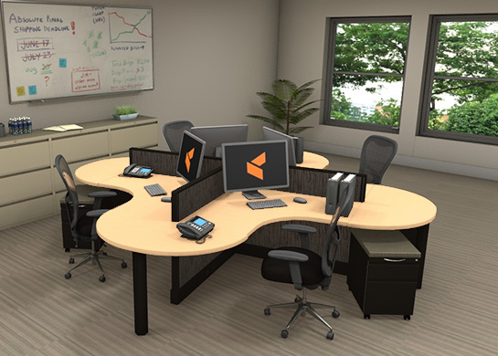 Office Workstations Optima by cubiclescom
