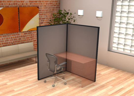Office Partition Walls LConfiguration by cubiclescom