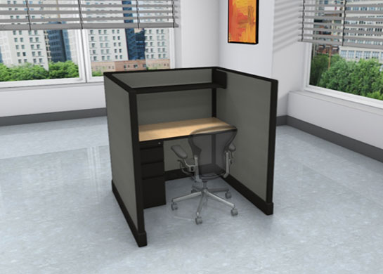 Call Center Cubicles for Sale  4 x 4 x 53 High