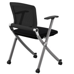 Folding Executive Chair Hardwood Chairs Office Guest Furniture