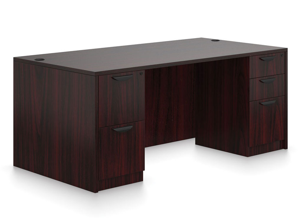 Double Pedestal Desk  Affordable Office Furniture  Desk