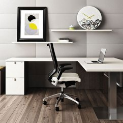 Contemporary Desk Chairs Lifetime Adirondack Chair White L Shaped Office Furniture Pulse
