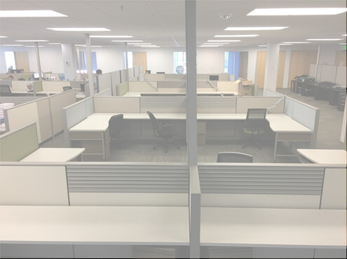 Used Herman Miller Vivo 8x6x46H  Low Panels  Used Cubicles