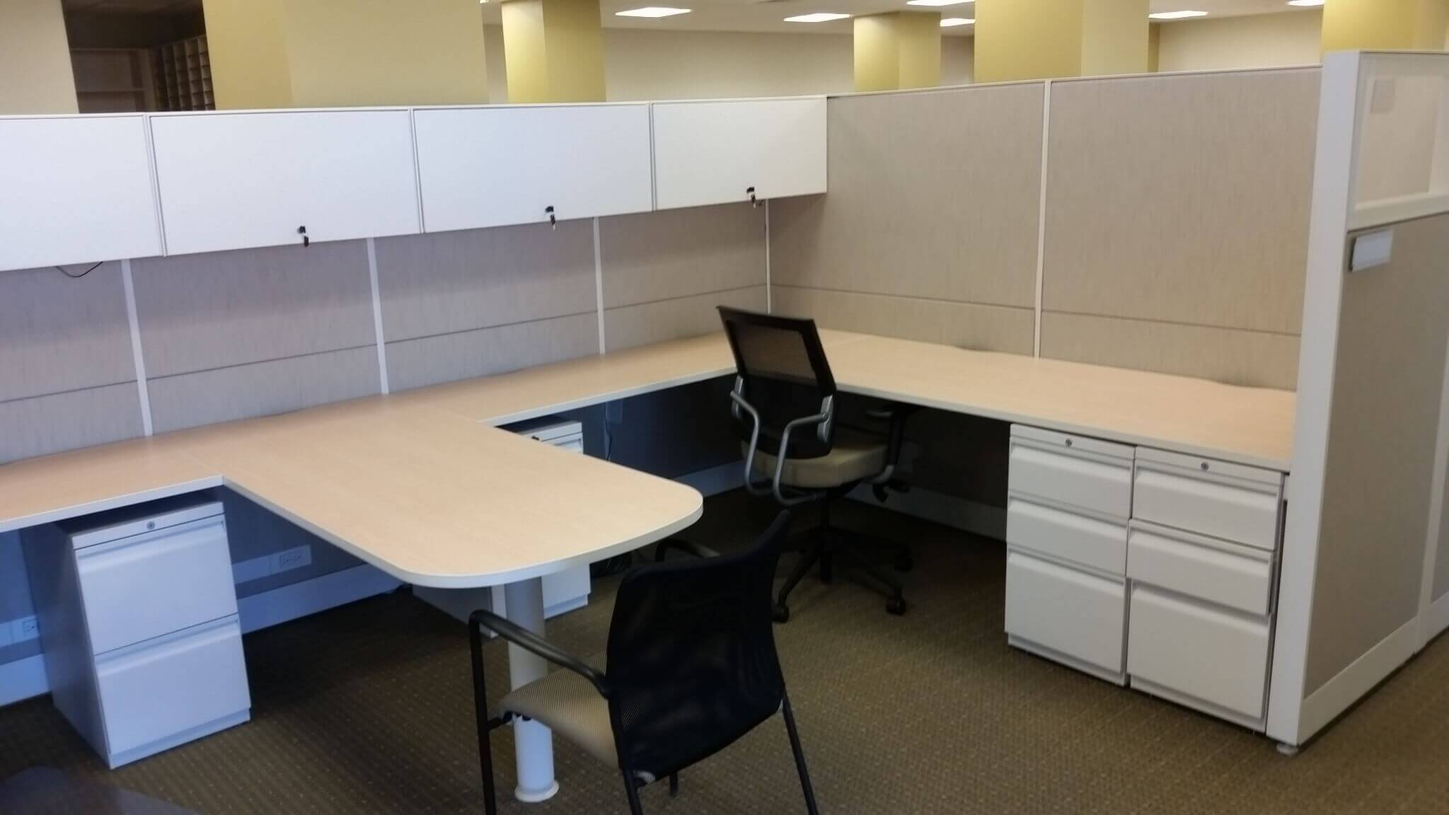 Used Dual Teknion Workstations  Used Office Furniture