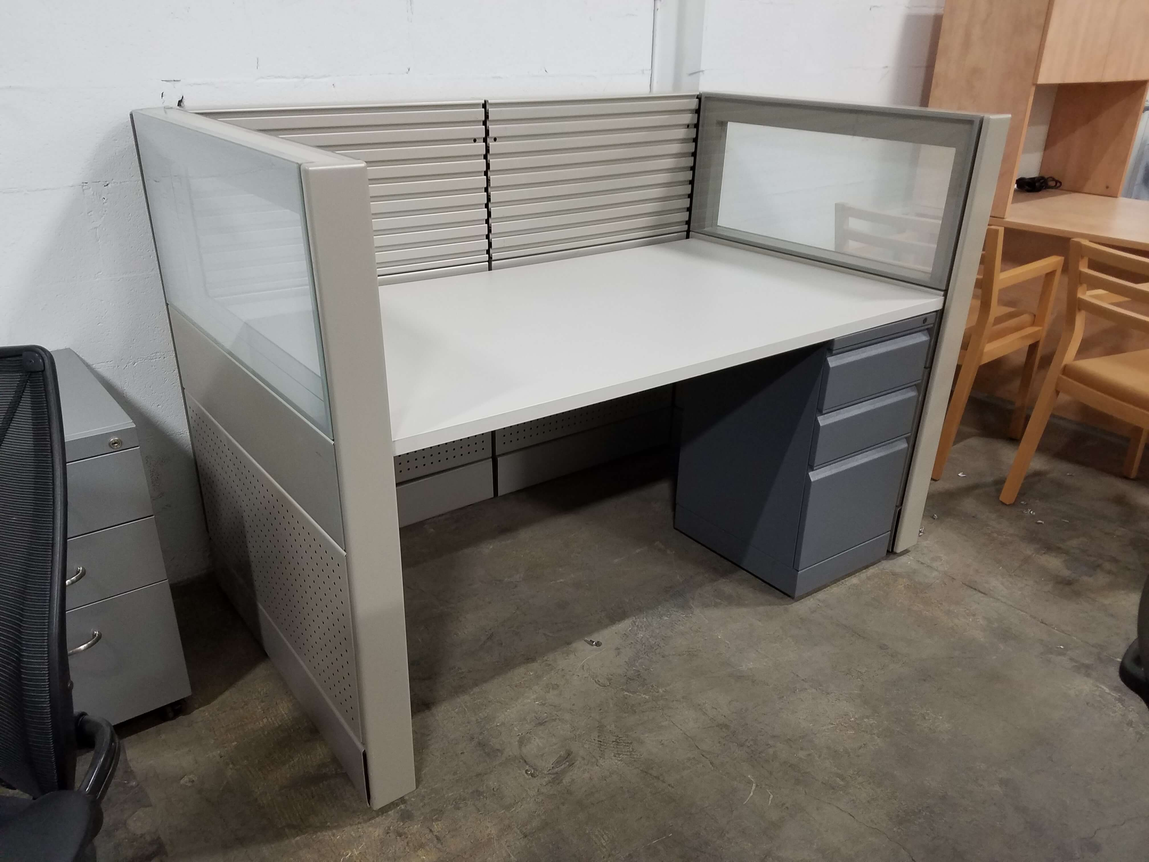herman miller desk chairs genuine leather chair and ottoman used ethospace 5x3x46h - low panels cubicles