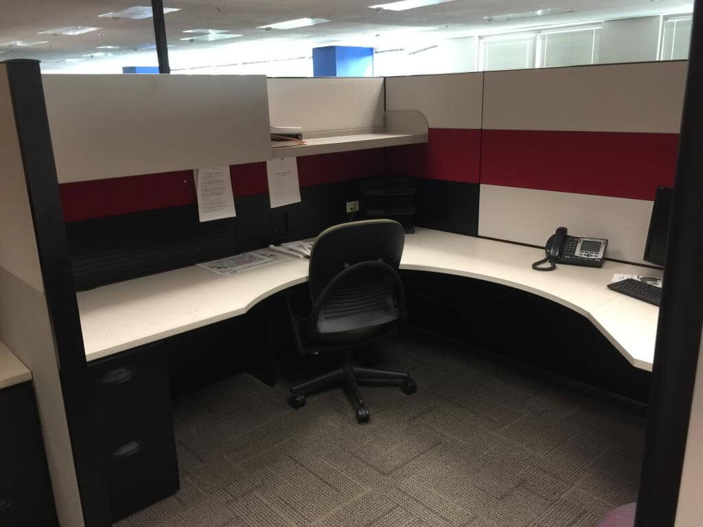 Used Steelcase Answer 8x95  Tall Panels  Used Cubicles