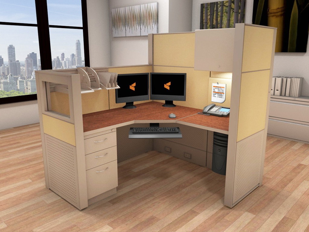 Office System Furniture  5x5 Cubicle Workstations