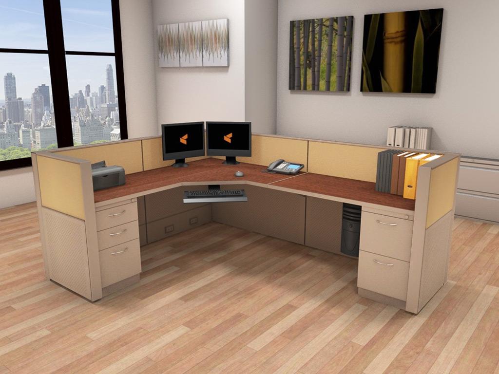 Office Workstation Desk  6x8 Cubicle Workstations