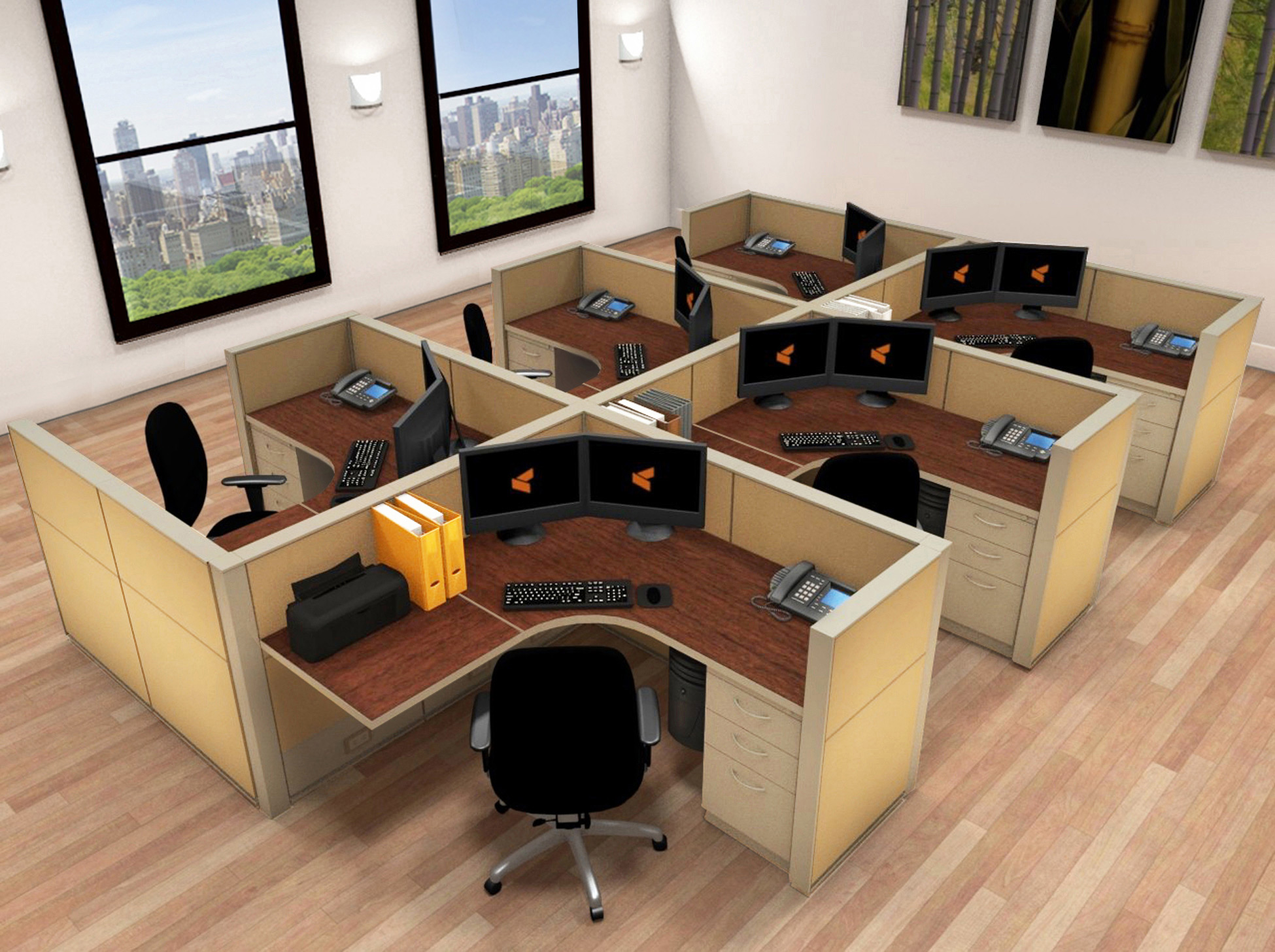 Systems Furniture  5x5 Cubicle Workstations  Cubicle Systems