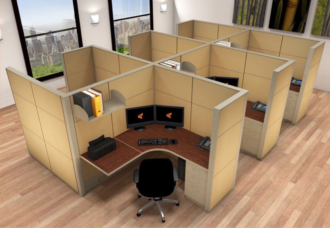 Office Furniture Systems 5x5 Cubicle Workstations