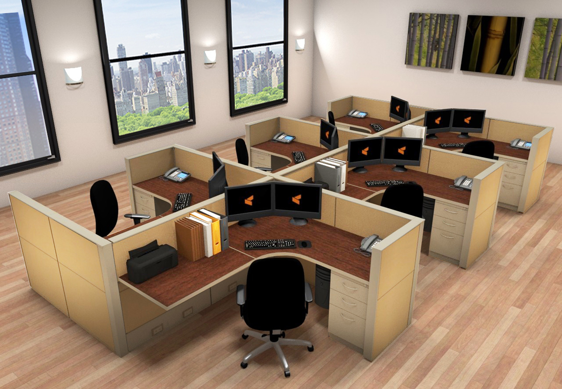 Office Work Station  5x6 Cubicle Workstations  Cubicle