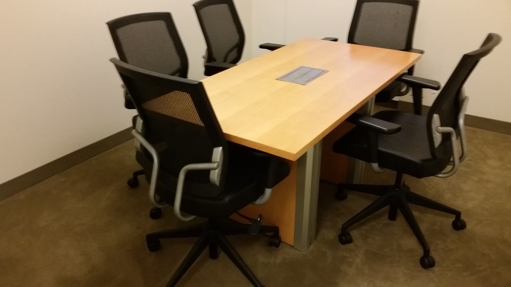 used conference table chairs chair design mind map teknion 5x2 5 office furniture