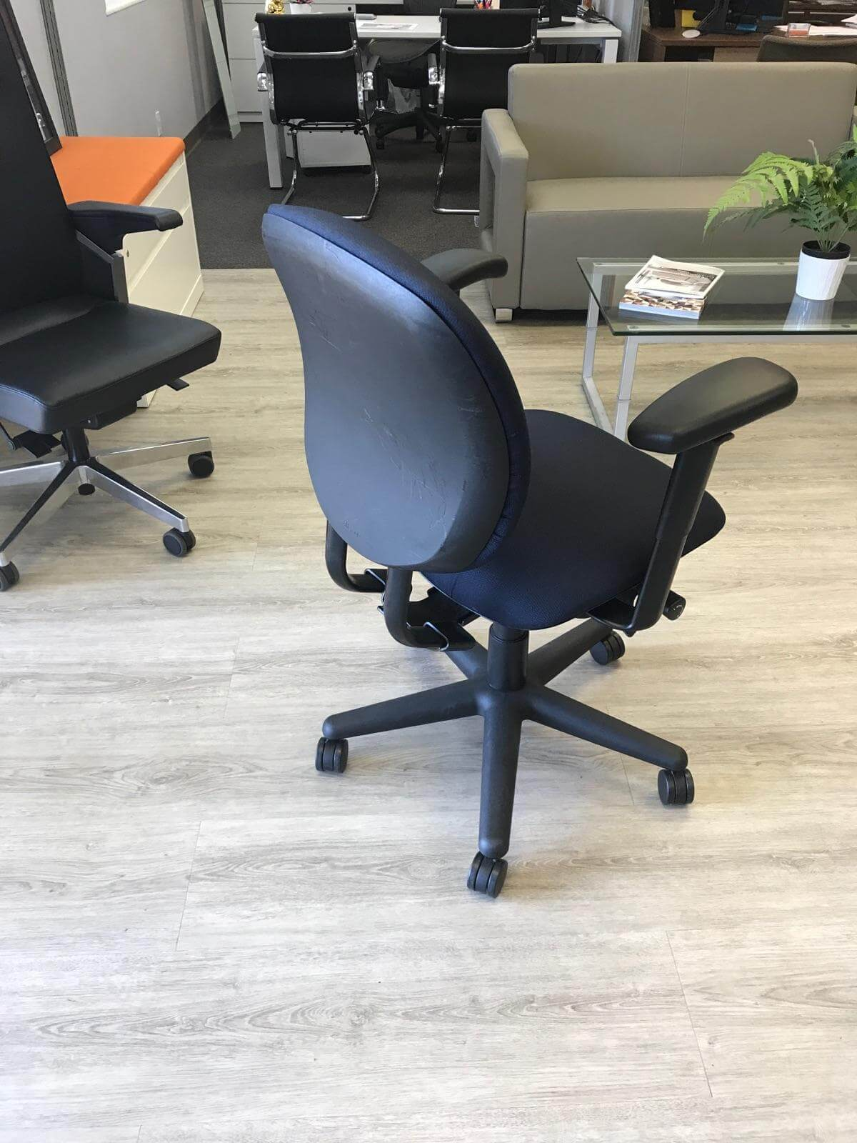 allsteel office chair desk wheel replacement trooper chairs second hand used