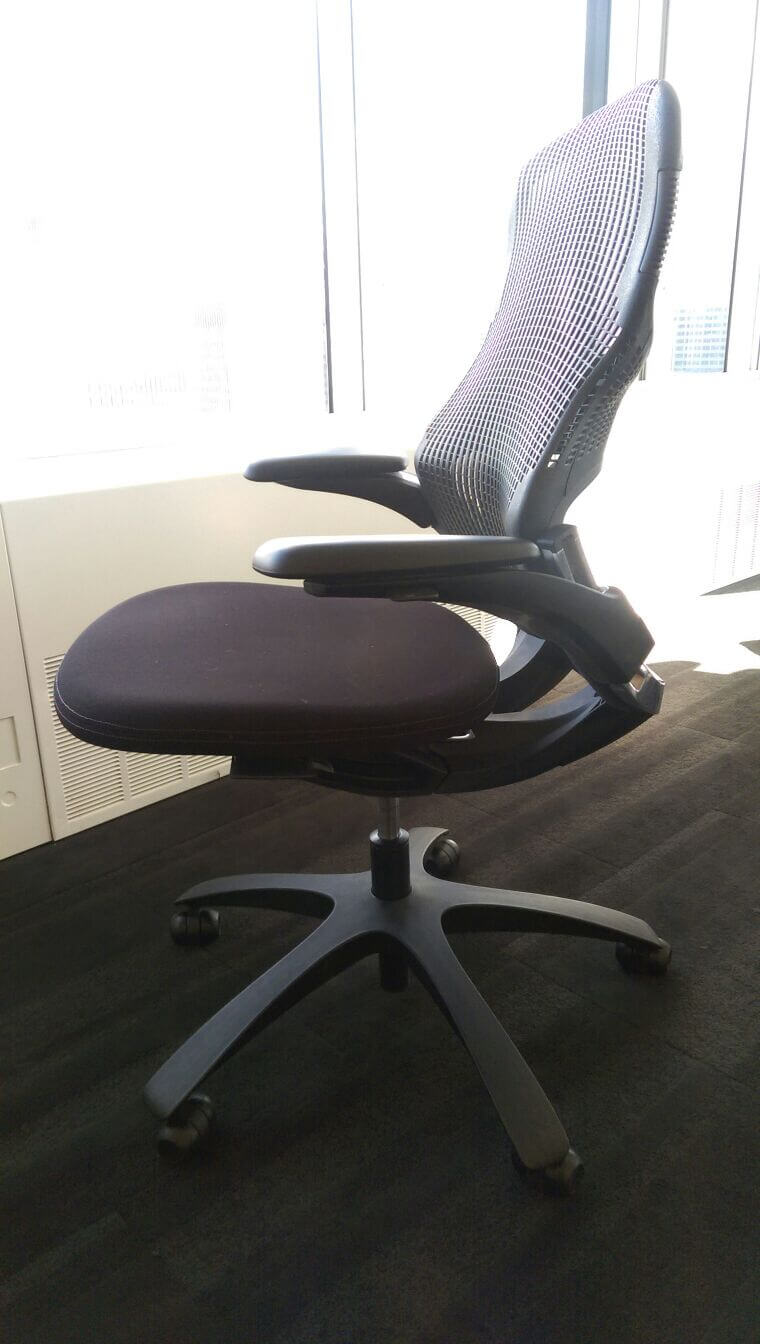 used desk chairs deluxe folding knoll second hand office excellent for work