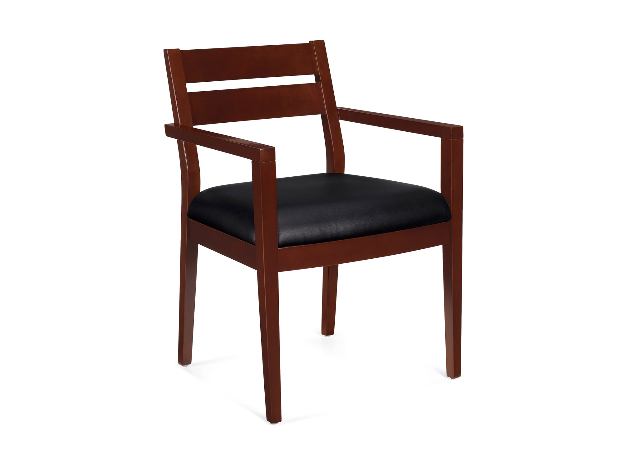 folding visitor chair human touch massage wood guest chairs office for