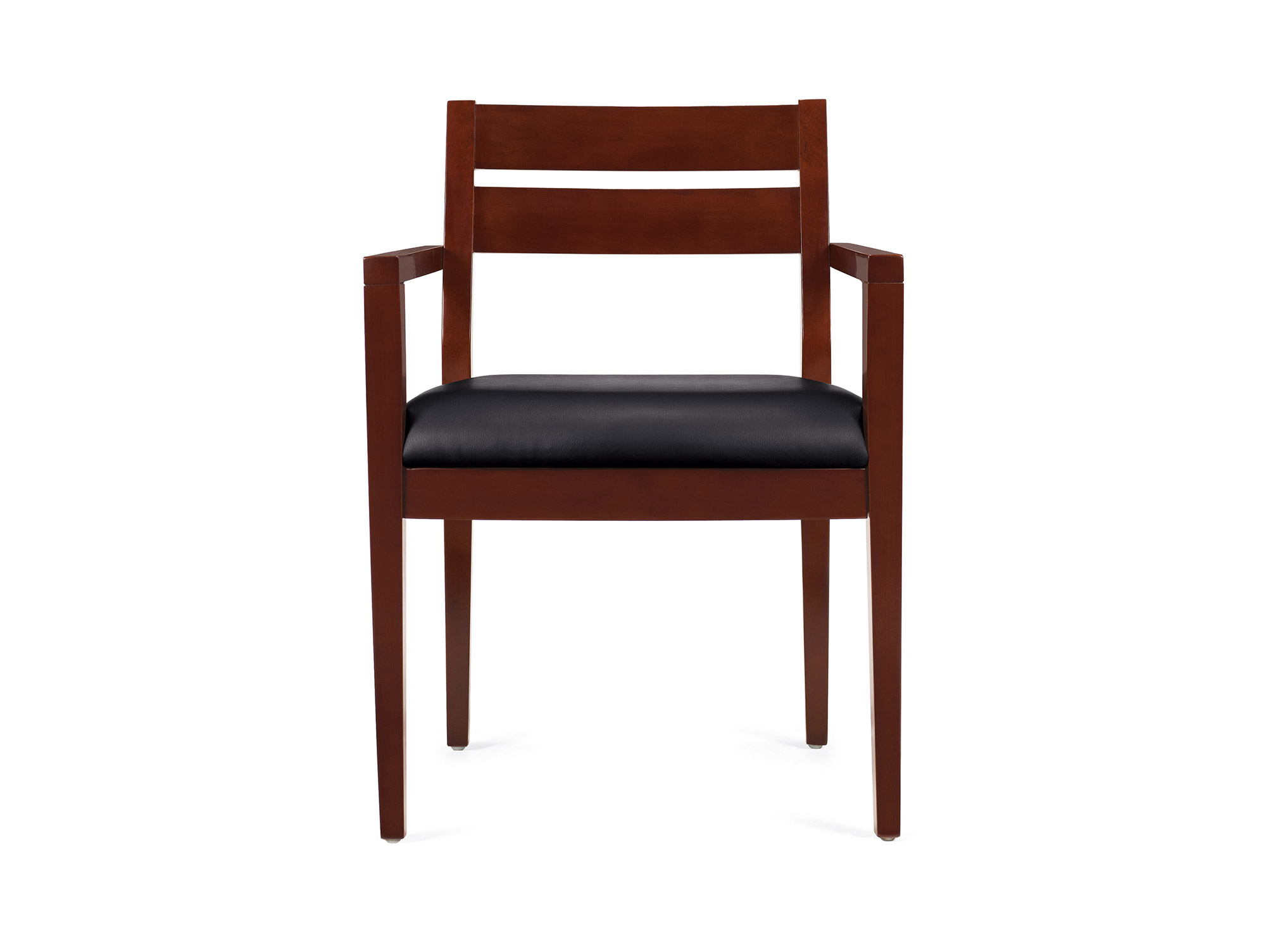 office visitor chairs white faux leather wood guest for