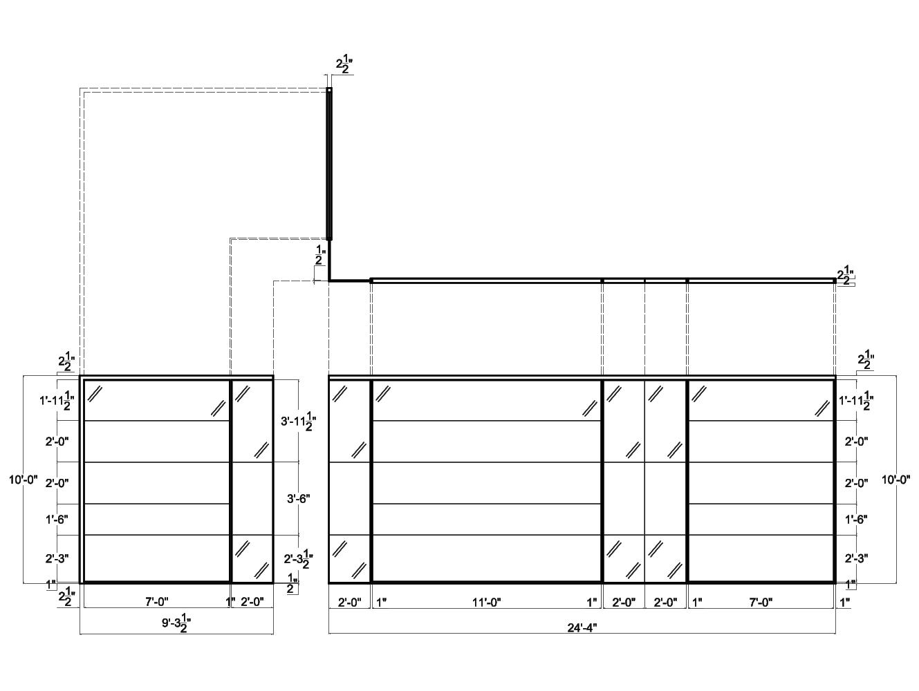 hight resolution of glass wall systems from concord 2d schematic