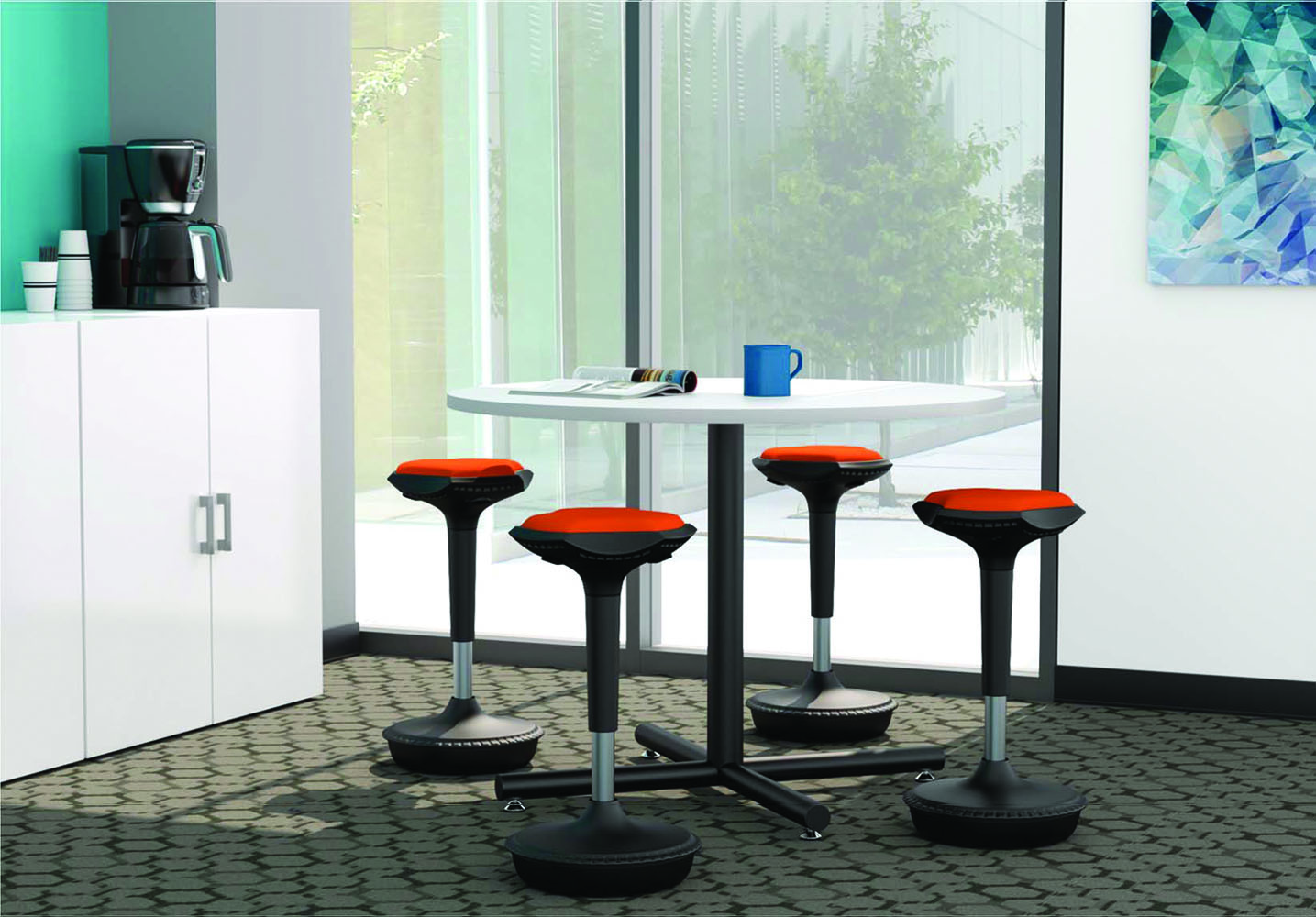 chair to bed convertible fold away dining table and chairs white office cafeteria - break room furniture sets