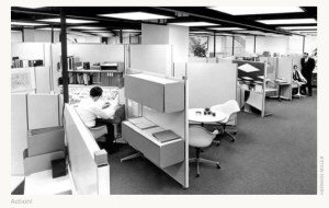 Cubicles in the workplace
