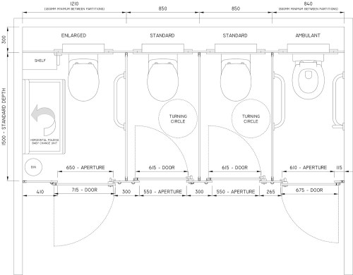 small resolution of model standard cubicle toilet sizes