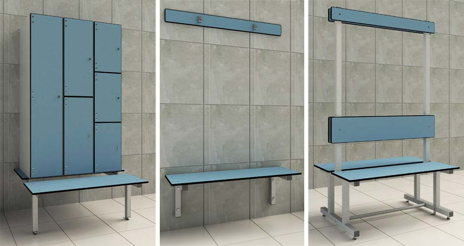 ChangingRoomBenchesRender  Cubicle Systems
