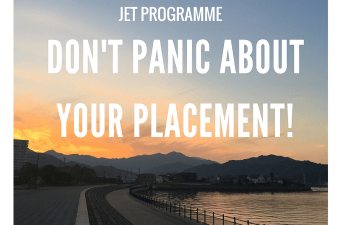 JET Programme: Don't Panic About Your Placement