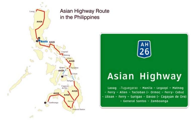 AH 26 road signs