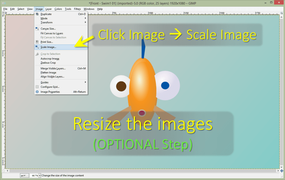 GIMP - Optional Step - Resize GIF Dimensions