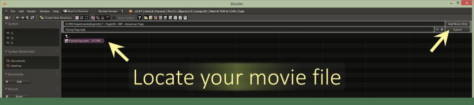 Screenshot - Add Movie - Locate the Movie File
