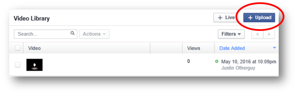 Facebook - Add to Video Library