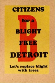 KennedyPrints postcards Blight Free Detroit 2015
