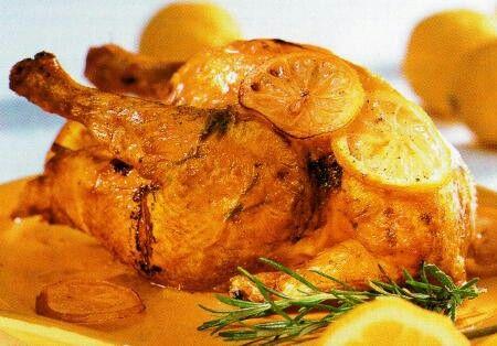 Pollo y Cerdo con frutas de Guanajuato