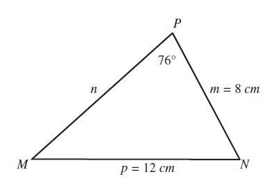 Calcular la longitud de un triangulo