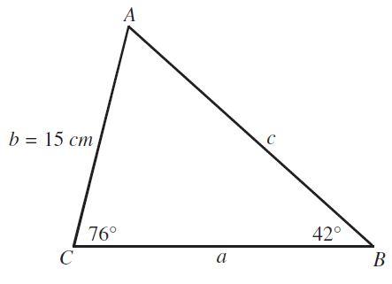 ejercicio 1 triangulo no rectangulo ley de los senos