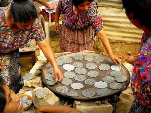 tortilla comida de los nahuas