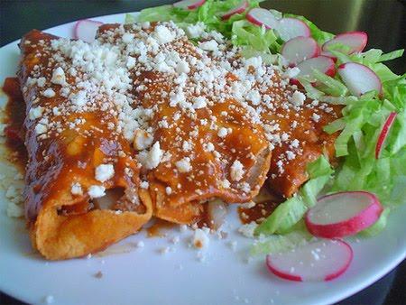Enchiladas queretanas comida tradicional de queretaro