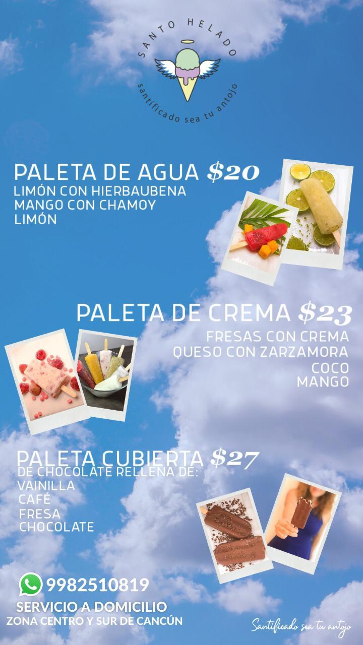 helados a domiclio en cancun