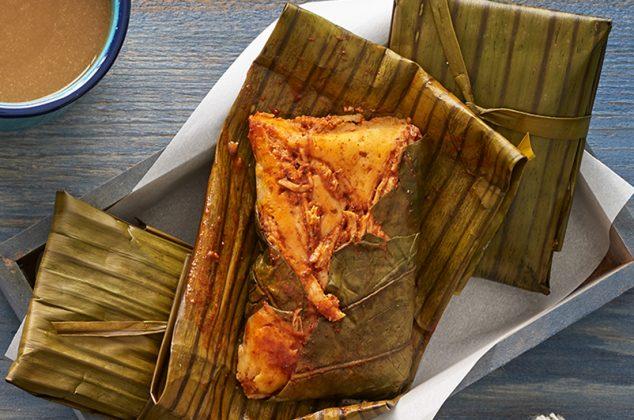 Tamales en hoja de cuba