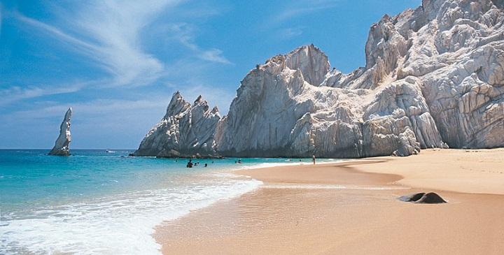 Playa de los Enamorados o Playa del Amor cabo san lucas