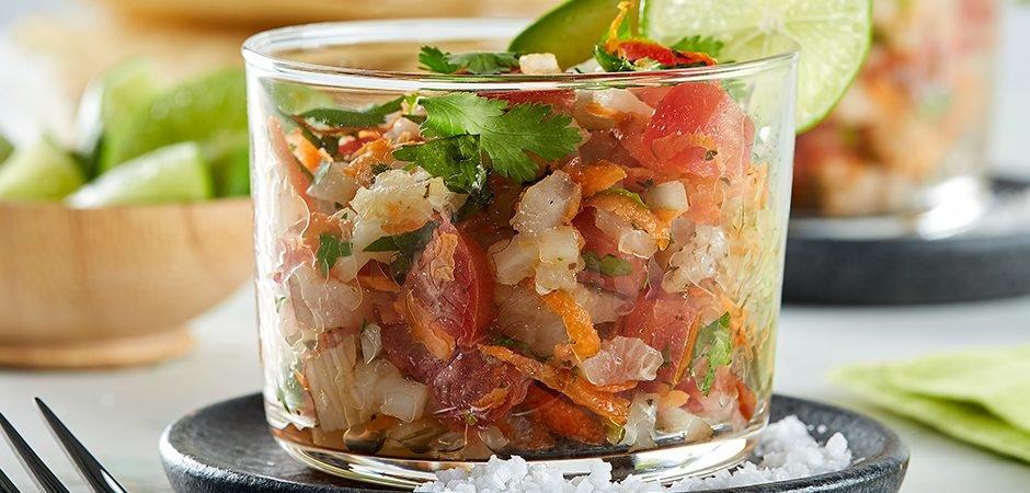 Ceviche de pez vela comida de colima