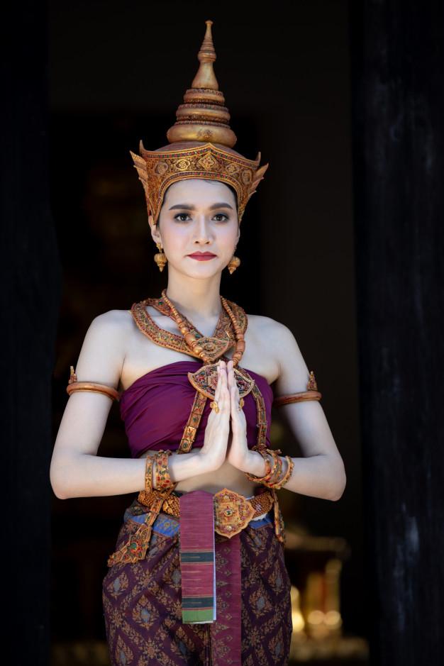 Traje típico de Mujer de tailandia