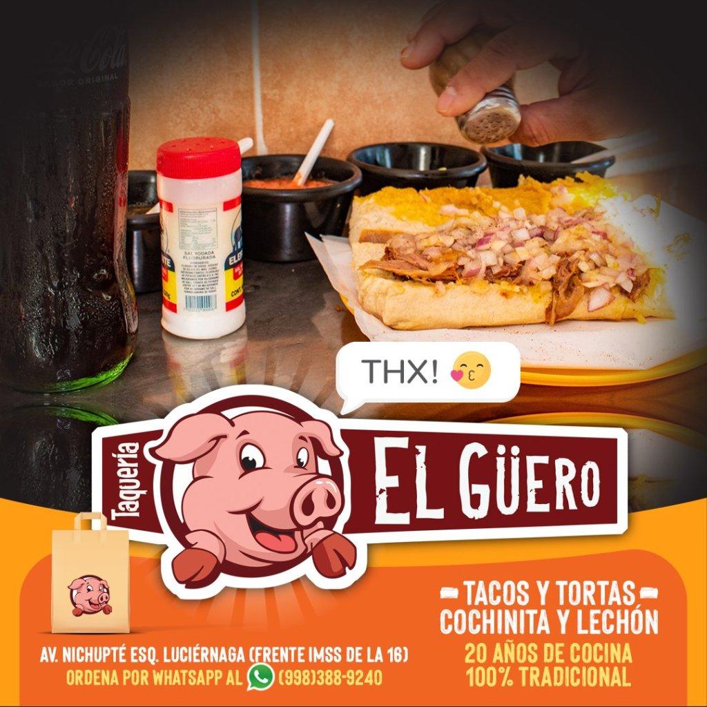 Taqueria el Guero mejor lugar para desayunar en cancun centro