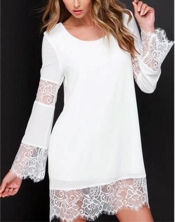 vestidos blancos moda primavera