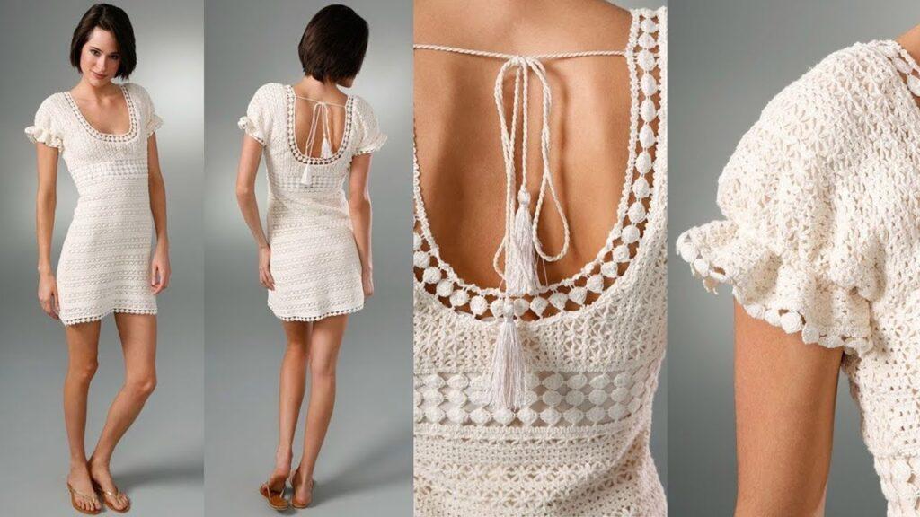 Vestido Corto Tejido - vestidos elegantes