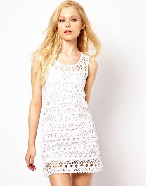 Vestido Corto de Crochet